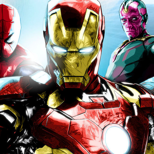 Iron Man, Robert Downey Jr., Civil War, Team Iron Man, Brian C. Roll, Odyssey Art, thbnail