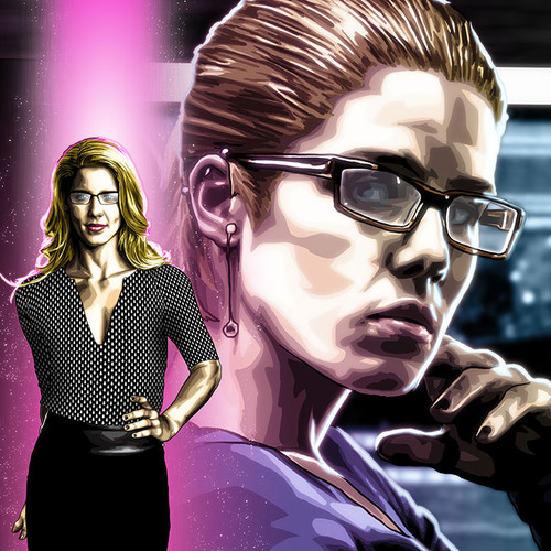Overwatch, Felicity Smoak, Arrow, Emily Bett Rickards, Brian C. Roll, Odyssey Art, thbnail