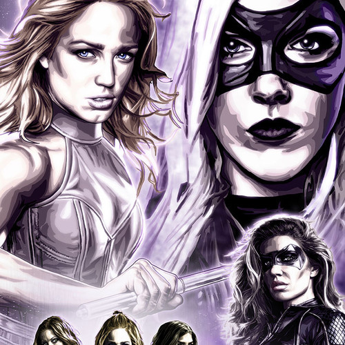 Canaries, Black Canary, White Canary, Arrow, Legends of Tomorrow, Brian C Roll, Odyssey Art, thbnail