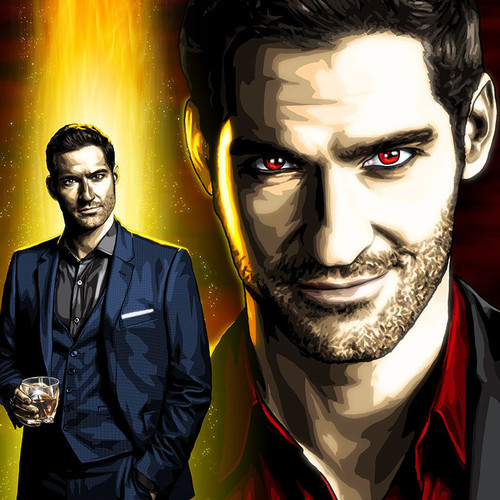 Lucifer Morningstar, Tom Ellis, Devil, Brian C. Roll, Odyssey Art, thbnail