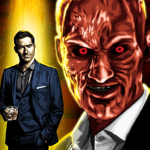 Lucifer Morningstar, The Devil, Tom Ellis, Brian C. Roll, Odyssey Art, variant, thbnail