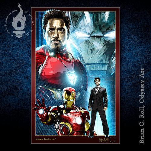Iron Man, Tony Stark, Robert Downey Jr., Brian C. Roll, Odyssey Art