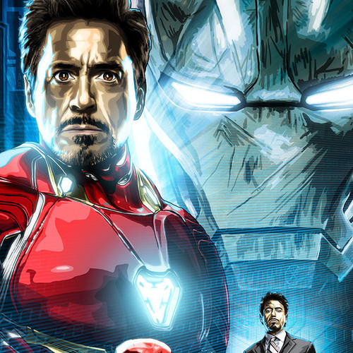 Iron Man, Tony Stark, Robert Downey Jr., Brian C. Roll, Odyssey Art, thbnail