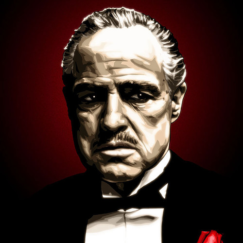 Godfather, Don Vito Corleone, Marlon Brando, Brian C. Roll, Odyssey Art, thbnail