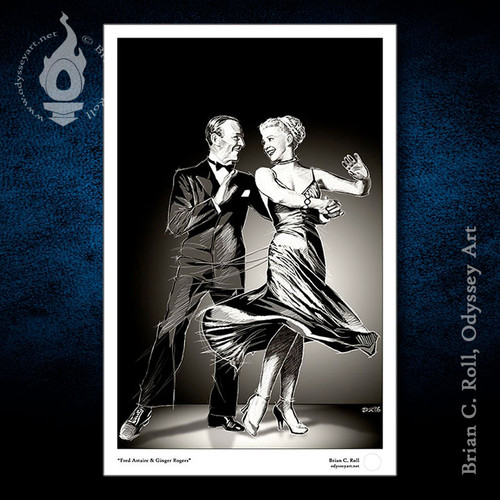 Fred Astaire, Ginger Rogers, The Barkleys of Broadway, Brian C. Roll, Odyssey Art