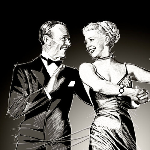 Fred Astaire, Ginger Rogers, The Barkleys of Broadway, Brian C. Roll, Odyssey Art, thbnail