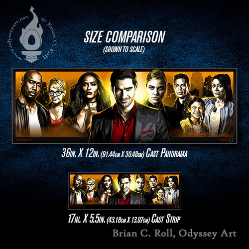Lucifer Cast Panorama and Cast Strip, Size options