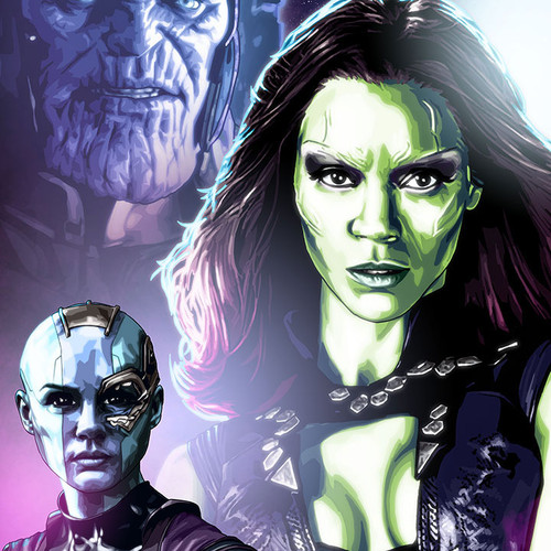 Daughters of Thanos, Nebula, Gamora, Brian C. Roll, Odyssey Art, thbnail