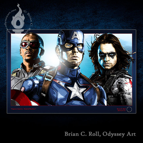 Captain America, Cap, Winter Soldier, Falcon, Brian C. Roll, Odyssey Art