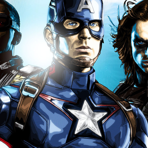 Captain America, Cap, Winter Soldier, Falcon, Brian C. Roll, Odyssey Art, thbnail