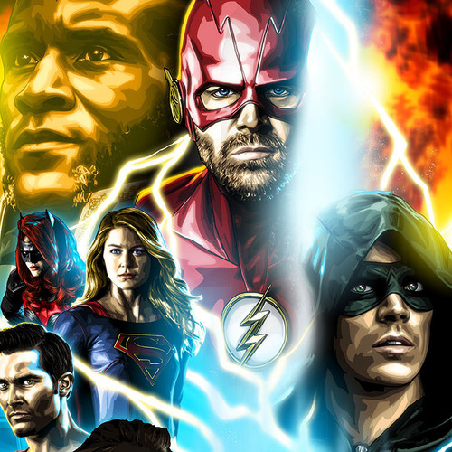 Elseworlds, Flash, Green Arrow, Supergirl, Brian C. Roll, Odyssey Art, thbnail