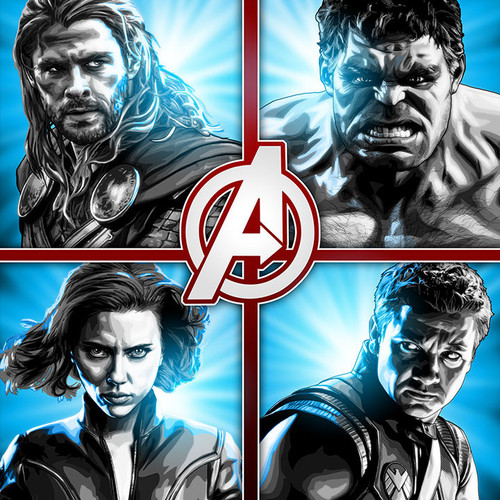 Avengers, Iron Man, Captain America, Thor, Hulk, Black Widow, Hawkeye, Brian C. Roll, Odyssey Art, thbnail