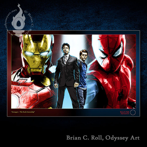 Iron Man, Spidey, Spider-Man, Peter Parker, Tony Stark, Brian C. Roll, Odyssey Art