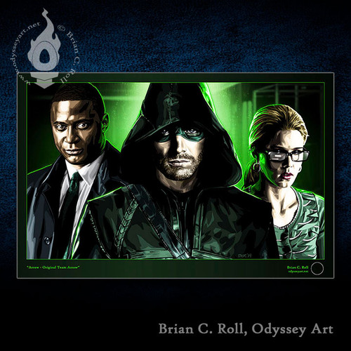 OTA, Team Arrow, Arrow, Oliver Queen, Felicity Smoak, John Diggle, Brian C. Roll, Odyssey Art