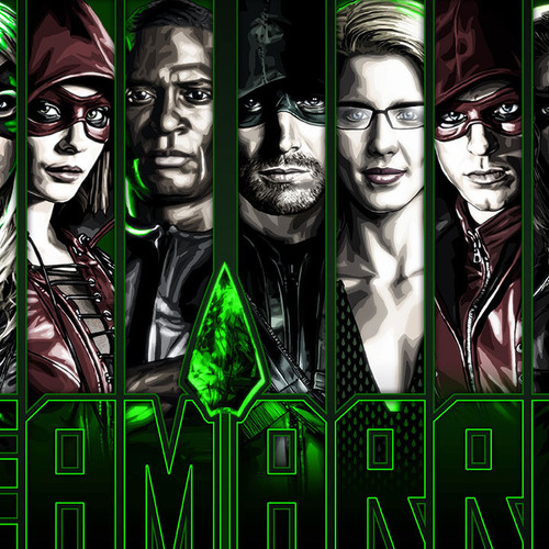 Team Arrow, Green Arrow, Stephen Amell, Brian C. Roll, Odyssey Art, thbnail
