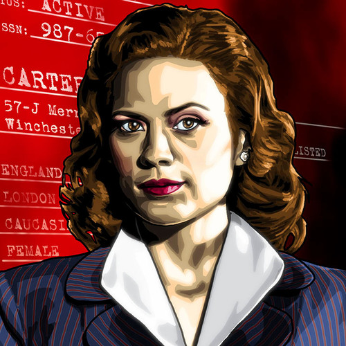 "Agent Peggy Carter, Hayley Atwell, 8.5""x11"" art print, Brian C. Roll, Odyssey Art, thbnail"