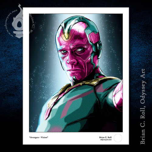 Paul Bettany as Vision from The Avengers, Brian C. Roll, Odyssey Art