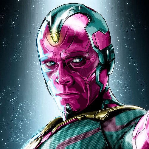 Paul Bettany as Vision from The Avengers, Brian C. Roll, Odyssey Art, thbnail