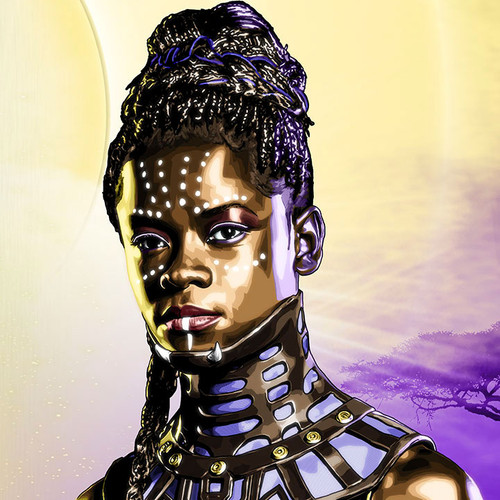 Black Panther, Shuri, Letitia Wright, Brian C. Roll, Odyssey Art, thbnail