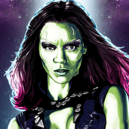 Guardians of The Galaxy, Gamora, Zoe Saldana, Brian C. Roll, Odyssey Art, thbnail