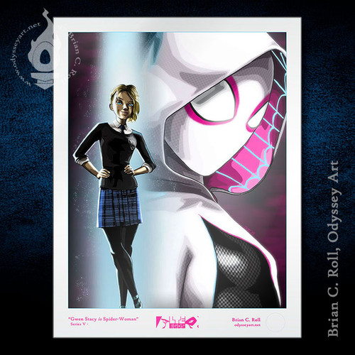 Spider Gwen Into the Spiderverse Art, Brian C. Roll