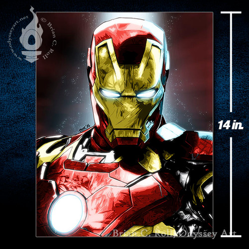 Iron Man, 11x14 Canvas, Brian C. Roll, Odyssey Art