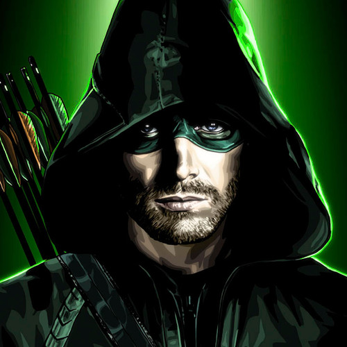 The Arrow, Oliver Queen, Stephen Amell, 11x14 Canvas, Brian C. Roll, Odyssey Art, thbnail