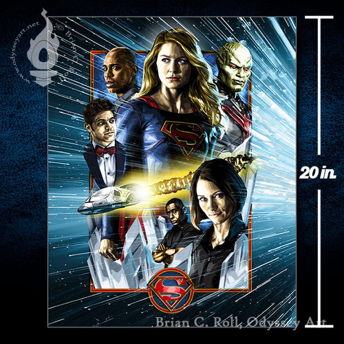 DCTV Supergirl 16x20 Canvas, Brian C. Roll, Odyssey Art