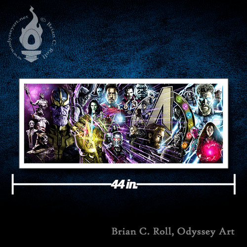Avengers, Infinity War, 16x40 Rolled Canvas, Brian C. Roll, Odyssey Art