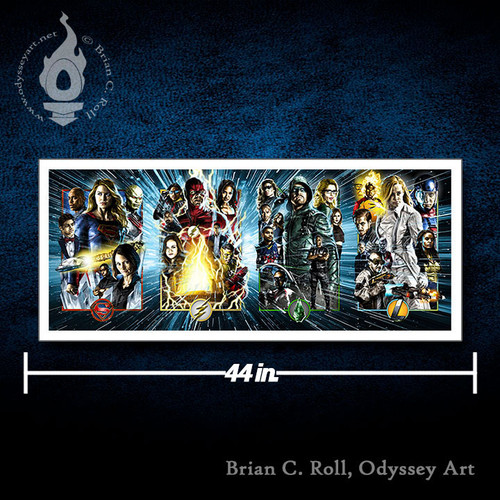 DCTV Arrowverse, 16x40 Rolled Canvas, Brian C. Roll, Odyssey Art