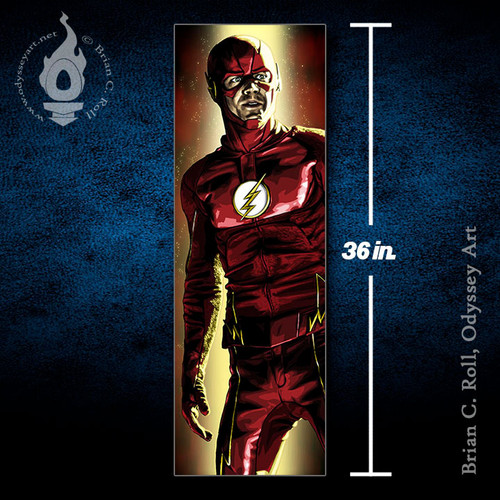 The Flash, Barry Allen, 12x36 Canvas, Brian C. Roll, Odyssey Art