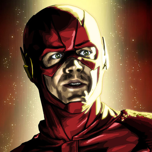 The Flash, Barry Allen, 12x36 Canvas, Brian C. Roll, Odyssey Art, thbnail