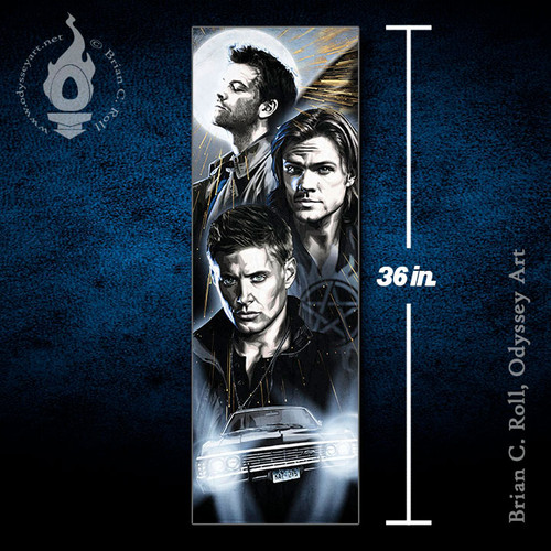 Supernatural, Dean, Sam, Winchester, 12x36 Canvas, Brian C. Roll, Odyssey Art