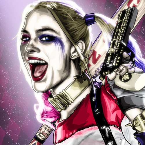Harley Quinn, Suicide Squad, 16x20 Canvas, Brian C. Roll, Odyssey Art, thbnail