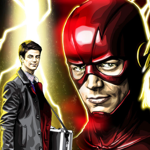 The Flash, Alter-Ego, Barry Allen, Grant Gustin, 16x20 Canvas, Brian C. Roll, Odyssey Art, thbnail
