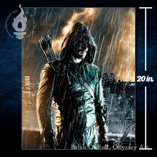 Arrow, This is My City, Oliver Queen, Stephen Amell, 16x20 Canvas, Brian C. Roll, Odyssey Art