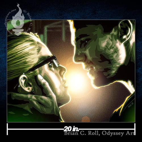 Arrow, Oliver & Felicity, Stephen Amell, 20x16 Canvas, Brian C. Roll, Odyssey Art