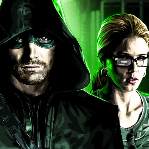 Team Arrow 20x16 Canvas, Brian C. Roll, Oliver, Diggle, Felicity, thbnail