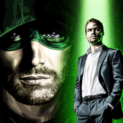 Arrow, Alter-Ego, Stephen Amell, Oliver Queen, 16x20 Canvas, Brian C. Roll, Odyssey Art, thbnail