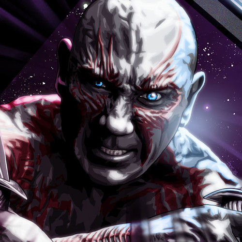 Guardians of the Galaxy, Drax the Destroyer, Dave Bautista, Brian C. Roll, Odyssey Art, small, thbnail