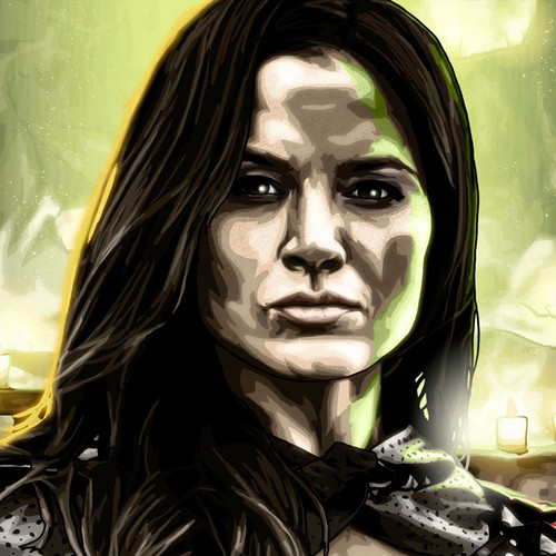 Arrow, Katrina Law, Nyssa al Ghul, Katrina Law, Brian C. Roll, Odyssey Art, small, thbnail