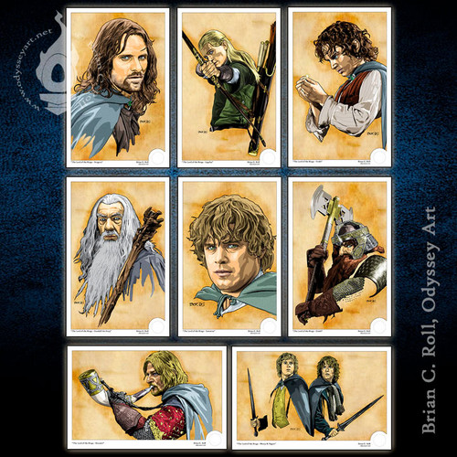 Lord of the Rings, Fellowship, Mini-Print, Brian C. Roll, Odyssey Art