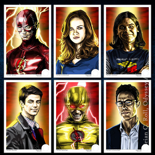 Flash, Arrowverse, STAR Labs, Mini-Print, Brian C. Roll, Odyssey Art