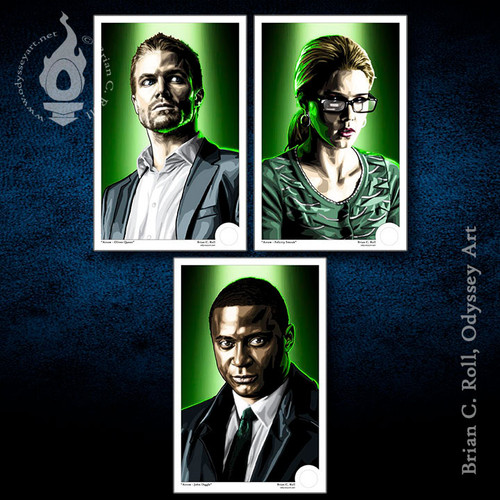 Arrow, Arrowverse, OTA, Civilian, Mini-Print, Brian C. Roll, Odyssey Art