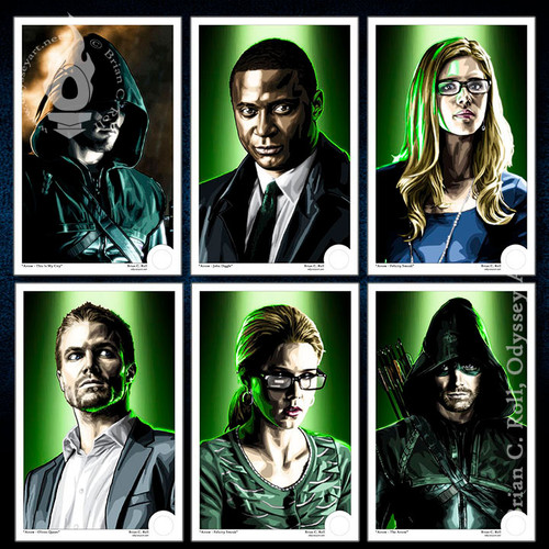 Arrow, Arrowverse, Original Team Arrow, My City, OTA 2 Mini-Print, Brian C. Roll, Odyssey Art