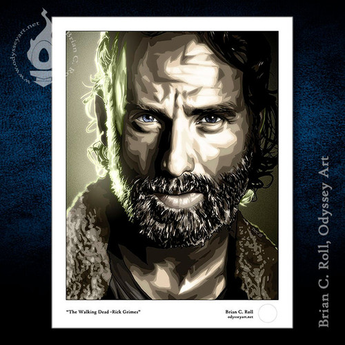 Walking Dead, TWD, Rick Grimes, Andrew Lincoln, Brian C. Roll, Odyssey Art, Small