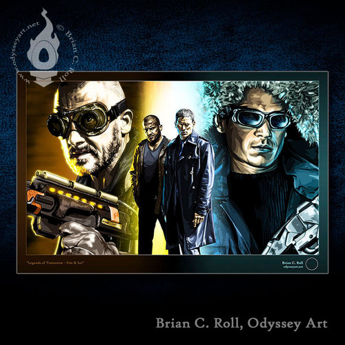 Legends of Tomorrow, Fire & Ice, Captain Cold, Heat Wave, Brian C. Roll, Odyssey Art