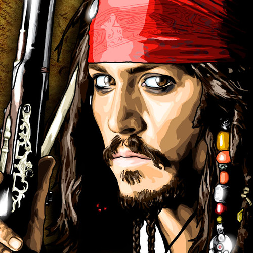 Pirates of the Caribbean, Captain Jack Sparrow, Johnny Depp, Brian C. Roll, Odyssey Art, thbnail