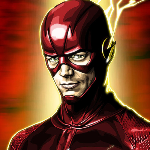 The Flash, Grant Gustin, small, Brian C. Roll, Odyssey Art, thbnail