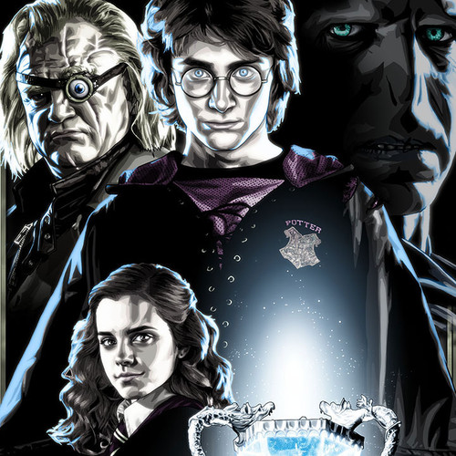 Harry Potter, Voldemort, Mad-Eye Moody, Hermione, Ron, Brian C. Roll, Odyssey Art, thumbnail